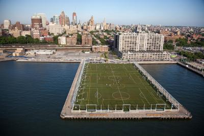 Mayor Bloomberg Opens New Sports Fields And Picnic