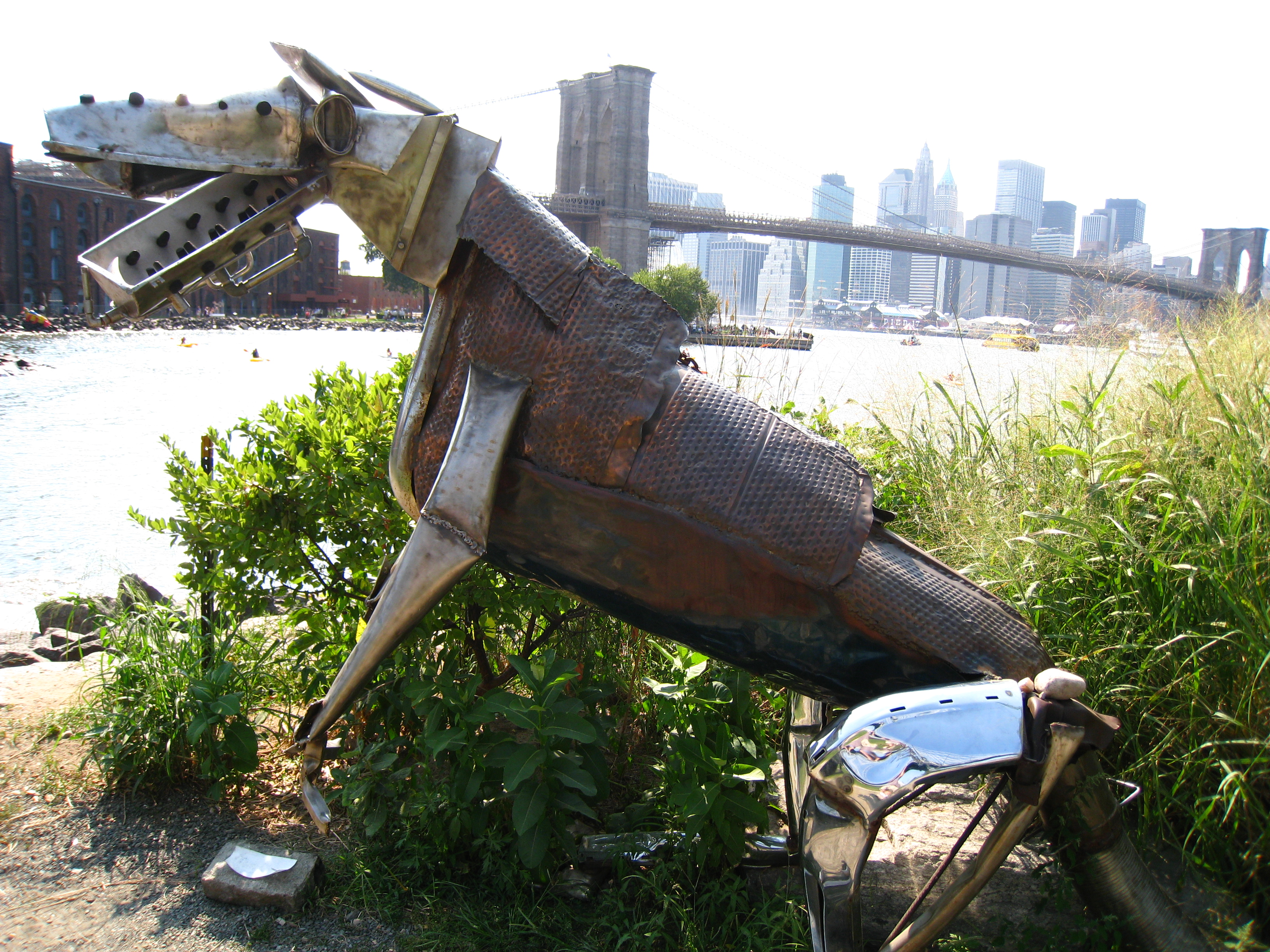 2008 public art installations brooklyn bridge park for Blums fishing almanac
