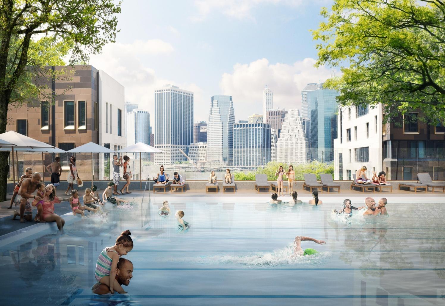 Brooklyn heights is getting a permanent public pool brooklyn bridge park for The heights swimming pool timetable