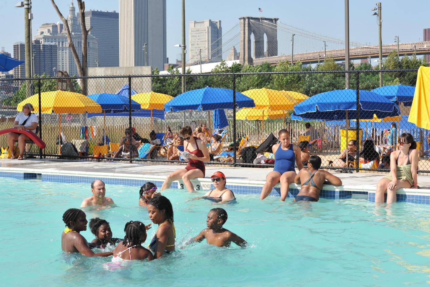 Pop Up Pool Brooklyn Bridge Park